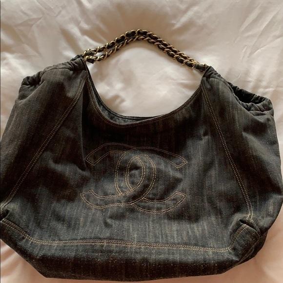 886479ac0532a8 CHANEL Handbags - 💯 Authentic CHANEL Denim Blue XL Coco Cabas Tote